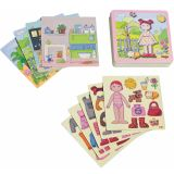 HABA Magnetic Game Set Dress-up Doll Lilli 007392