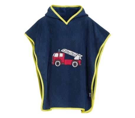 Playshoes badponcho brandweer donkerblauw junior maat L[1/2]