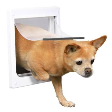 TRIXIE Chatière pour chiens à double sens Taille XS-S 25 x 29 cm Blanc[1/3]