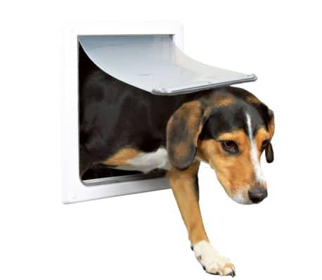 TRIXIE Puerta para perros 2 vías S-M 30x36 cm blanca 3878