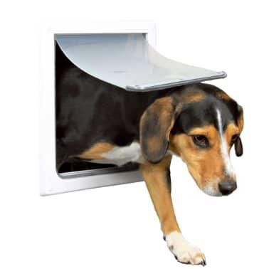 TRIXIE Chatière pour chiens à double sens Taille S-M 30 x 36 cm Blanc[1/3]