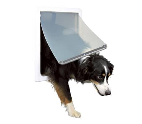 TRIXIE Priechodné dvierka pre psov, M-XL, 39x45 cm, biele, 3879[1/4]