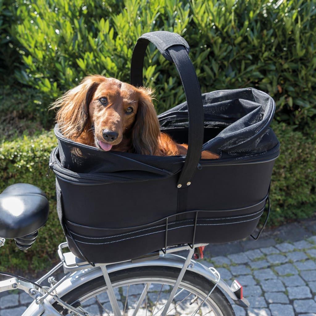 TRIXIE Coș de bicicletă pentru animale de companie, negru, 29x49x60 cm poza vidaxl.ro