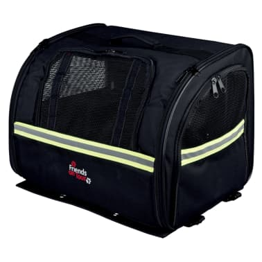 TRIXIE Transportavimo dviračiu krepšys šunims, juodas, 35x28x29 cm[2/3]