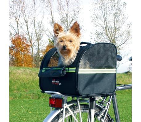 TRIXIE Transportavimo dviračiu krepšys šunims, juodas, 35x28x29 cm[3/3]