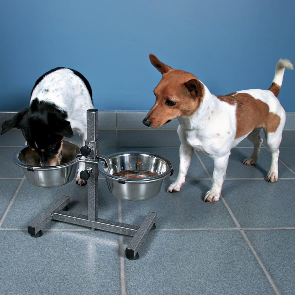 TRIXIE Verstelbare honden voerbak standaard 5,6 L 24 cm 24922