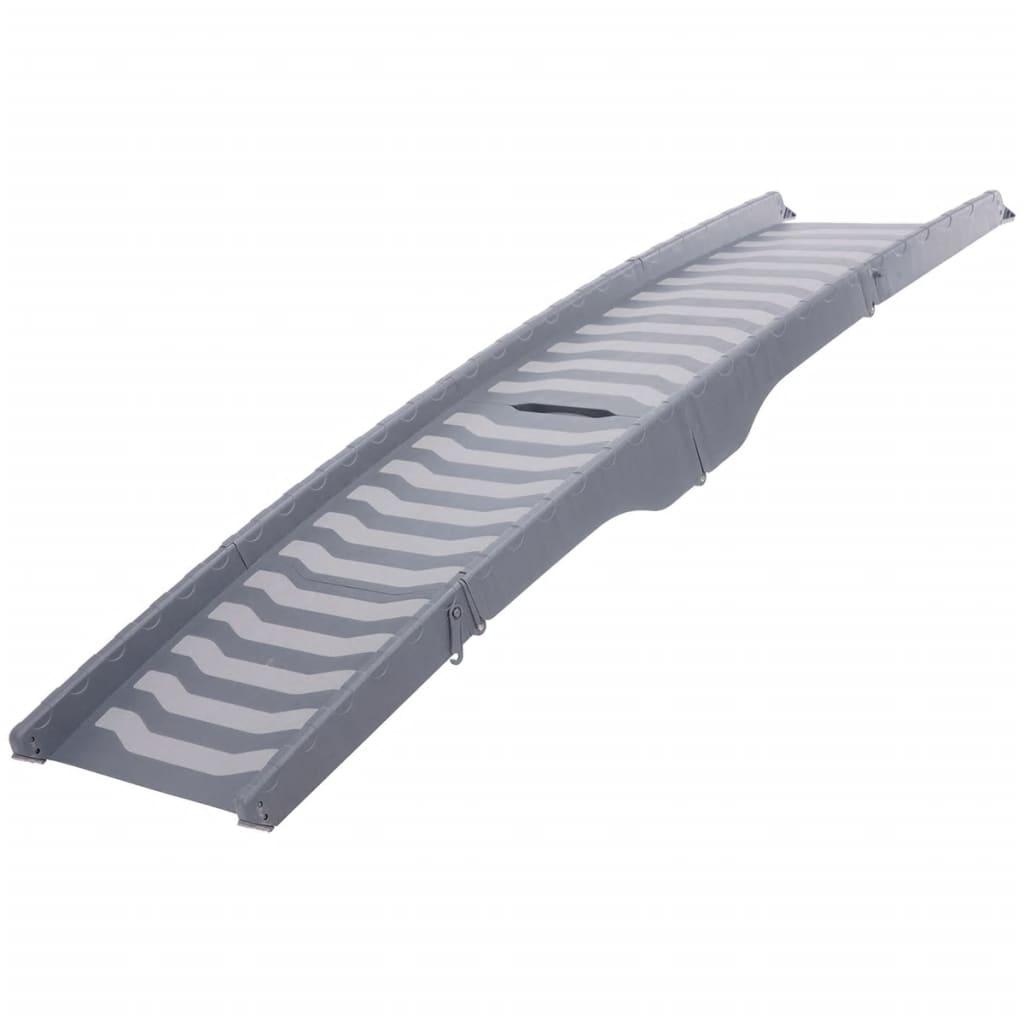 Afbeelding van TRIXIE Loopplank huisdieren 3-voudig inklapbaar 39x150 cm grijs 394736