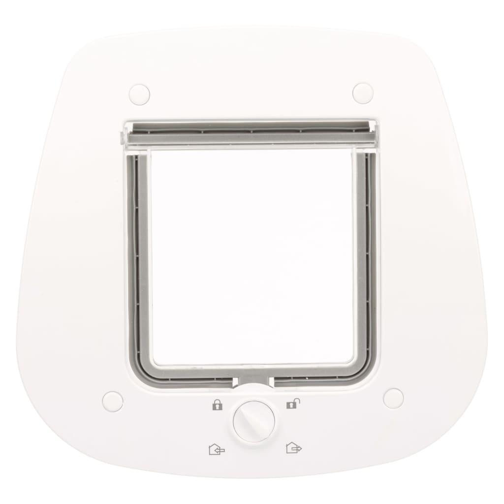 99425489 TRIXIE 4-Wege Katzenklappe für Glastüren 27 x 27 cm Weiß