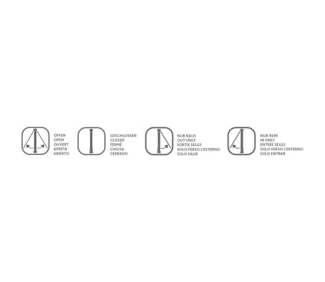 TRIXIE Chatière 4 positions pour portes en verre 27 x 27 cm Blanc[2/3]