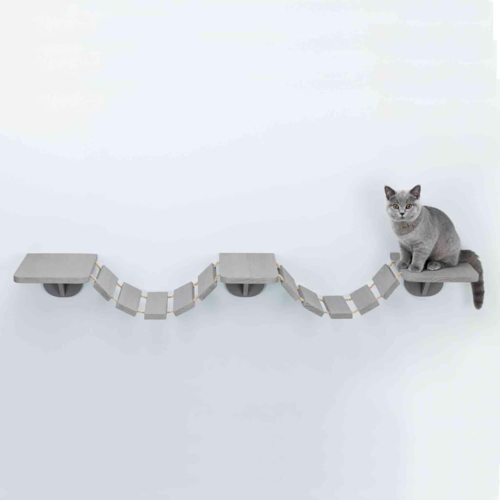 TRIXIE Scară pentru pisici, montaj pe perete, gri, 150 x 30 cm imagine vidaxl.ro