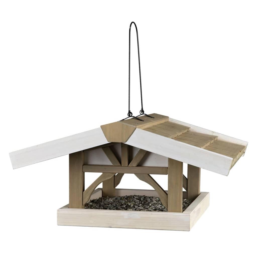 Afbeelding van TRIXIE Vogelvoederhuisje hangend Natura 46x22x44 cm bruin en wit 55801