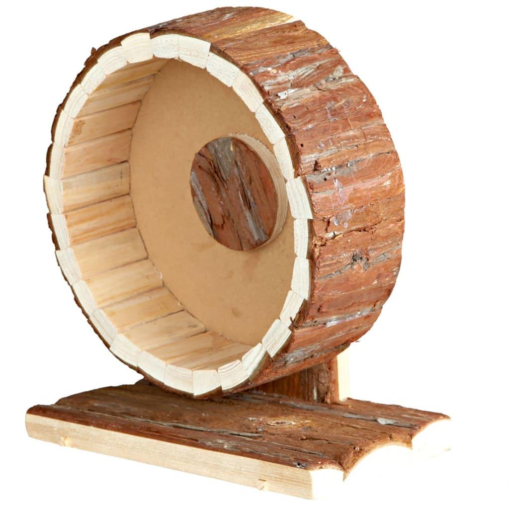 TRIXIE Roată de exerciții rozătoare Natural Living, 20 cm, lemn, 61035 poza 2021 TRIXIE