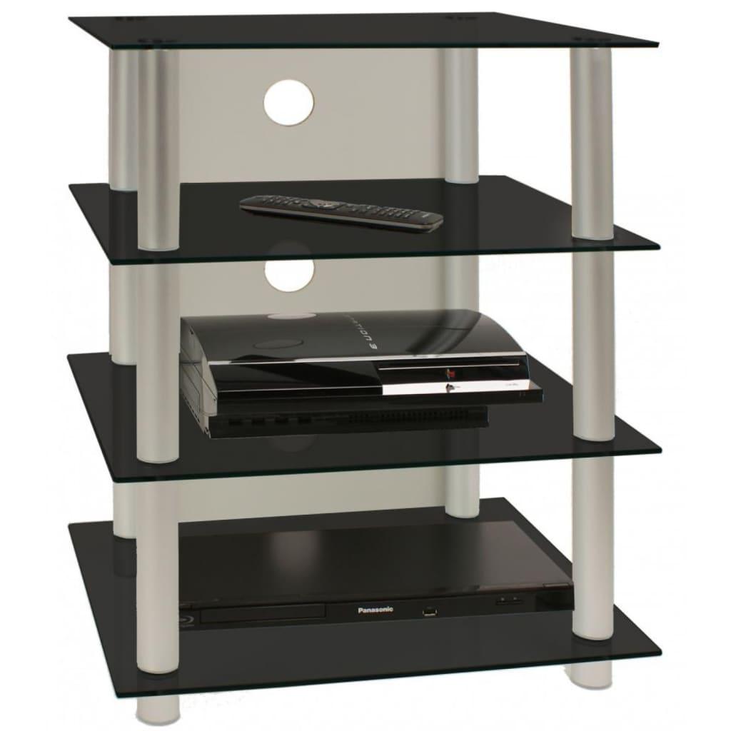 VCM TV meubel - kast Blados van zwart glas