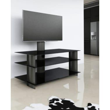 Glazen Tv Meubel Draaibaar.Tv Kast Tv Meubel Bulmo Verrijdbaar Draaibaar Zwart Zwart