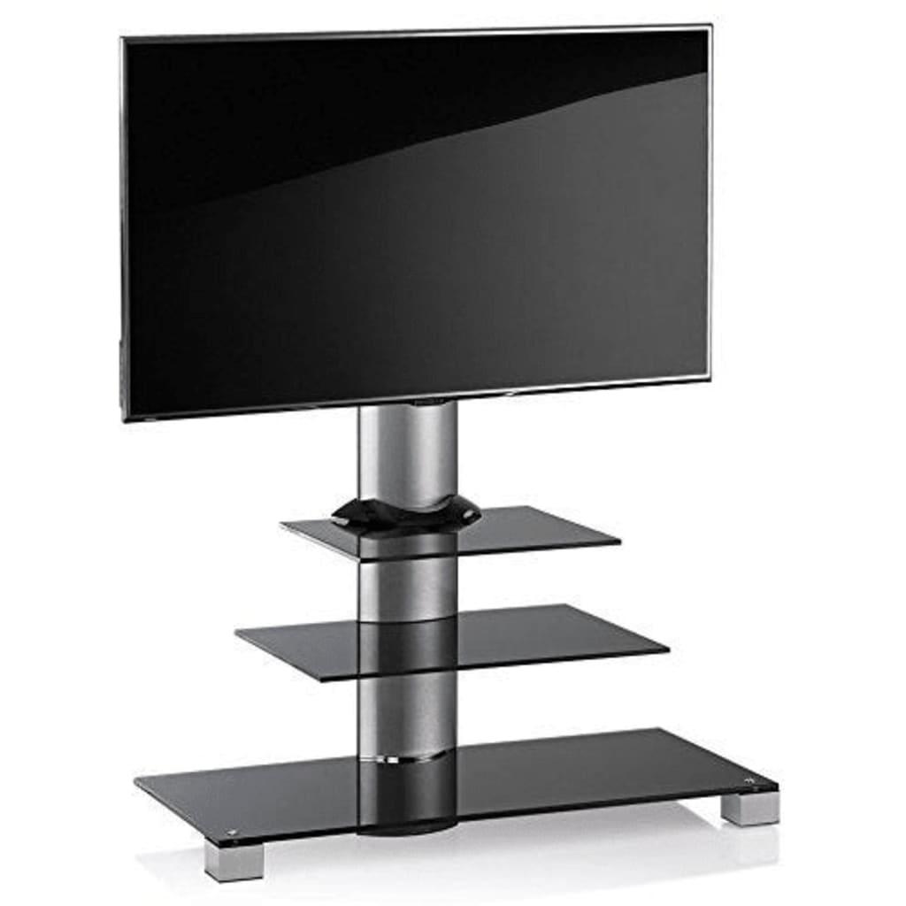 VCM TV meubel standaard Amalo maxi, verrijdbaar, zilver/zwart