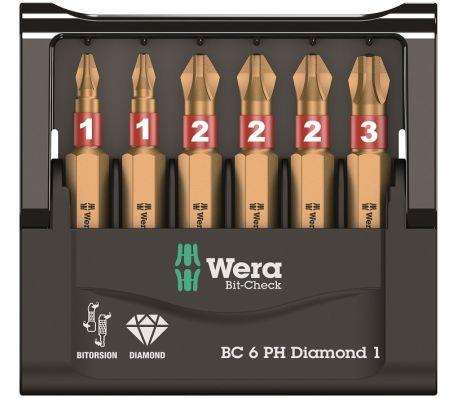 WERA WERK Jeu de 6 embouts PH BiTorsion Diamond WERA[1/1]