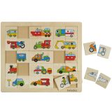 Beleduc Transport Match & Mix Puzzle 11007