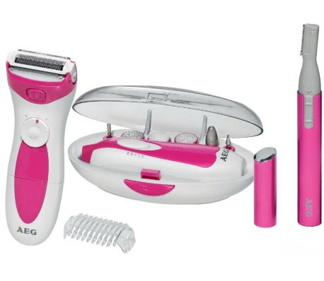 AEG Three Piece Trimmer and Manicure/Pedicure Set White LBS 5676[1/4]
