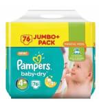 Pampers Baby-Dry Luiers Maat 4 - 76 Stuks