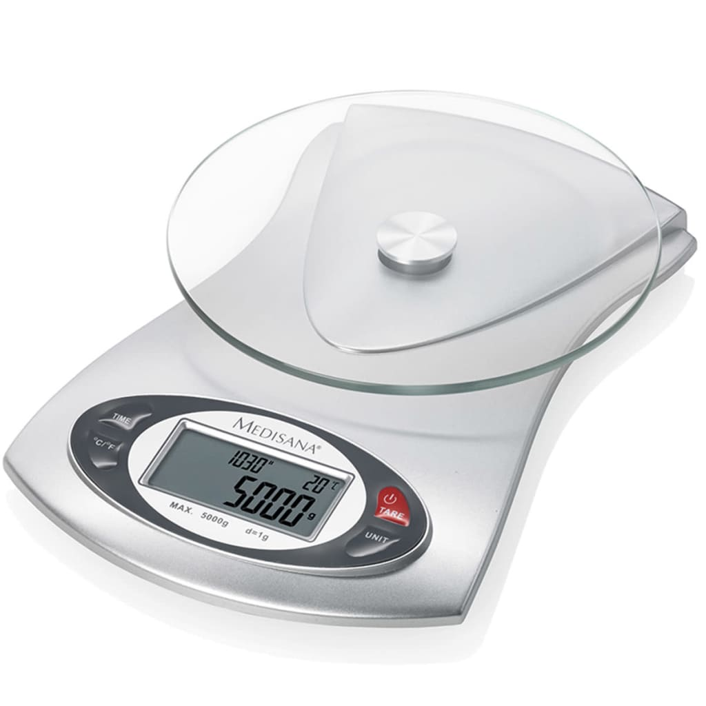 Afbeelding van Medisana Digitale keukenweegschaal KS 220 glas 5 kg 40467