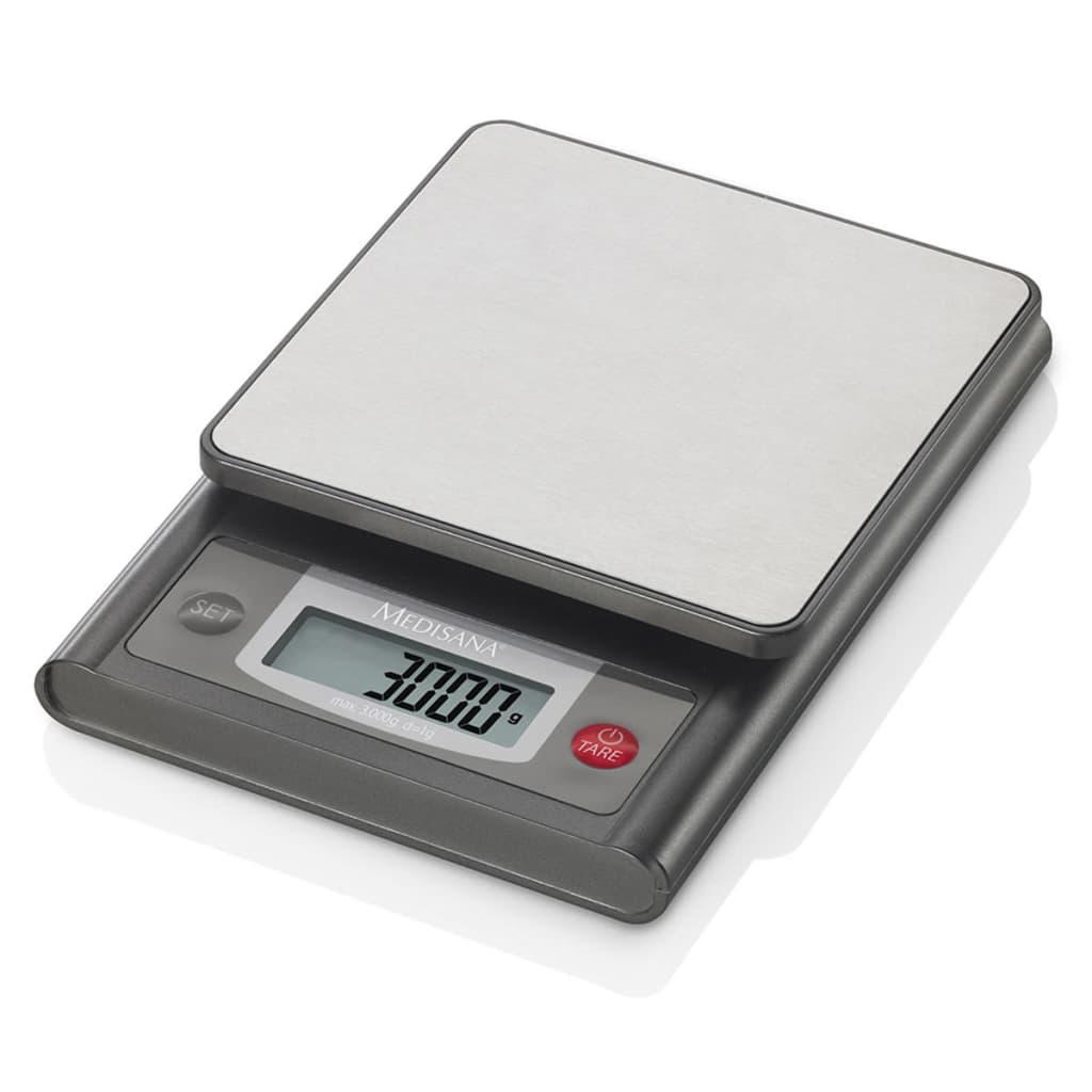 Afbeelding van Medisana Digitale keukenweegschaal KS 200 roestvrij staal 3 kg 40469