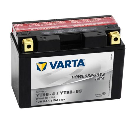 varta agm battery 12 v 8 ah yt9b 4 yt9b bs. Black Bedroom Furniture Sets. Home Design Ideas