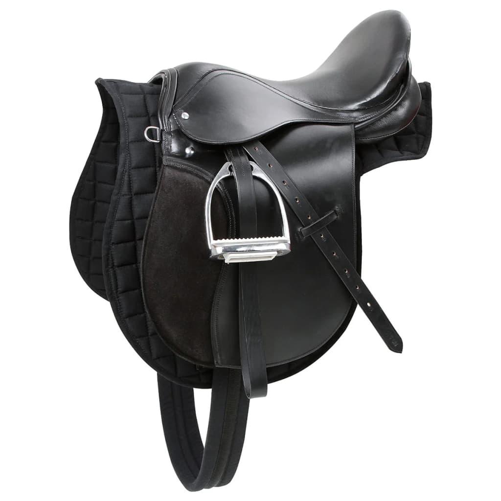 Kerbl Șa din piele pentru cai din rasa Haflinger, negru, 32285 poza vidaxl.ro