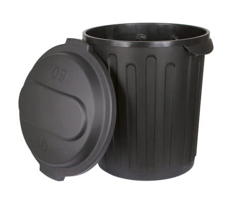 Kerbl Horse Feed Bin 60 L Black Plastic Food Grain Seed Corn Storage 323474