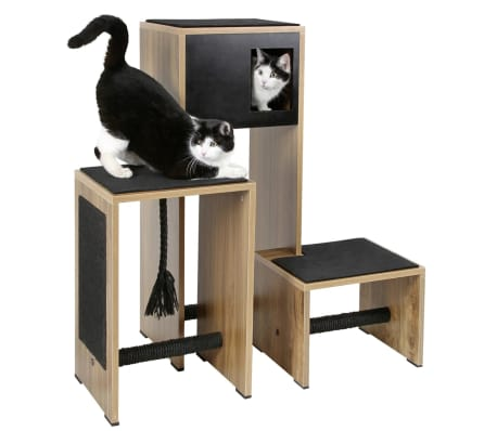acheter kerbl mobilier de griffoir pour chats ambiente noir 100 cm 81520 pas cher. Black Bedroom Furniture Sets. Home Design Ideas