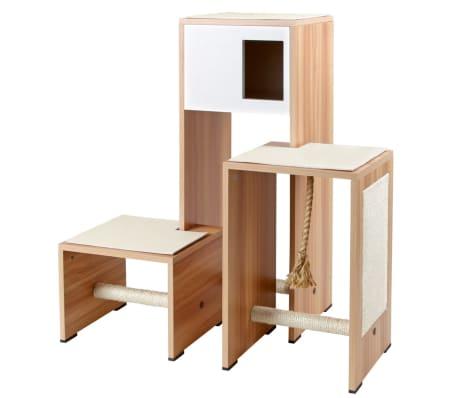 Kerbl Mobilier de griffoir pour chats Ambiente Blanc 100 cm 81521