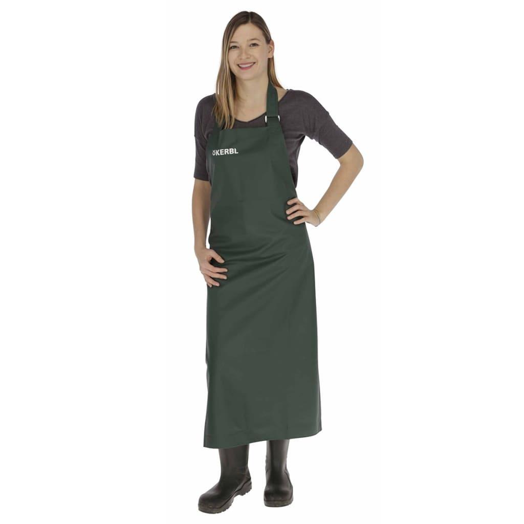 Kerbl Mjölkningsförkläde Premium 125x118 cm grön 15614