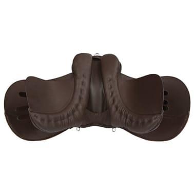 Kerbl saddel til haflinger læder brun 32198[2/6]