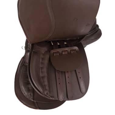 Kerbl saddel til haflinger læder brun 32198[4/6]