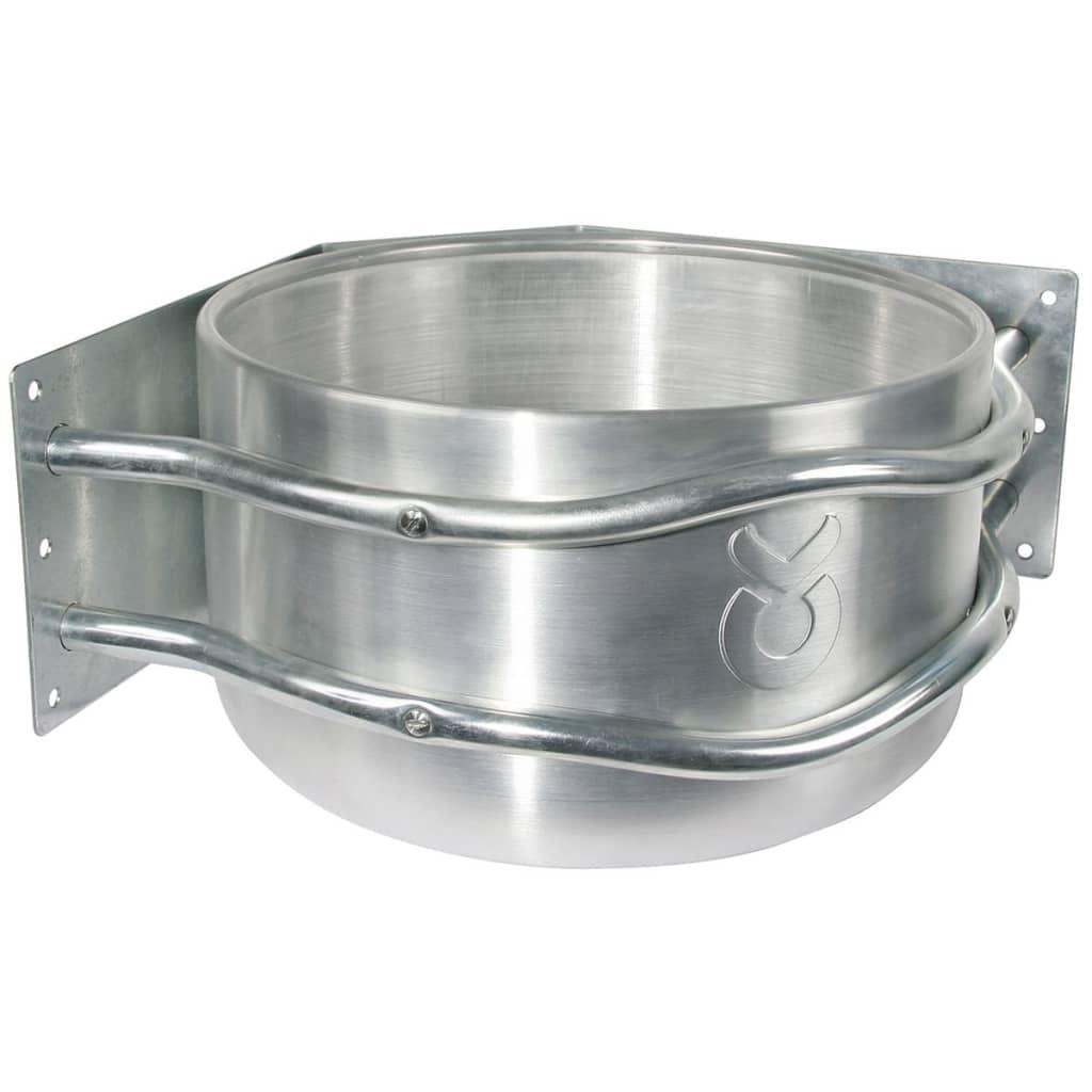 Kerbl Voerbak 18 L aluminium zilver