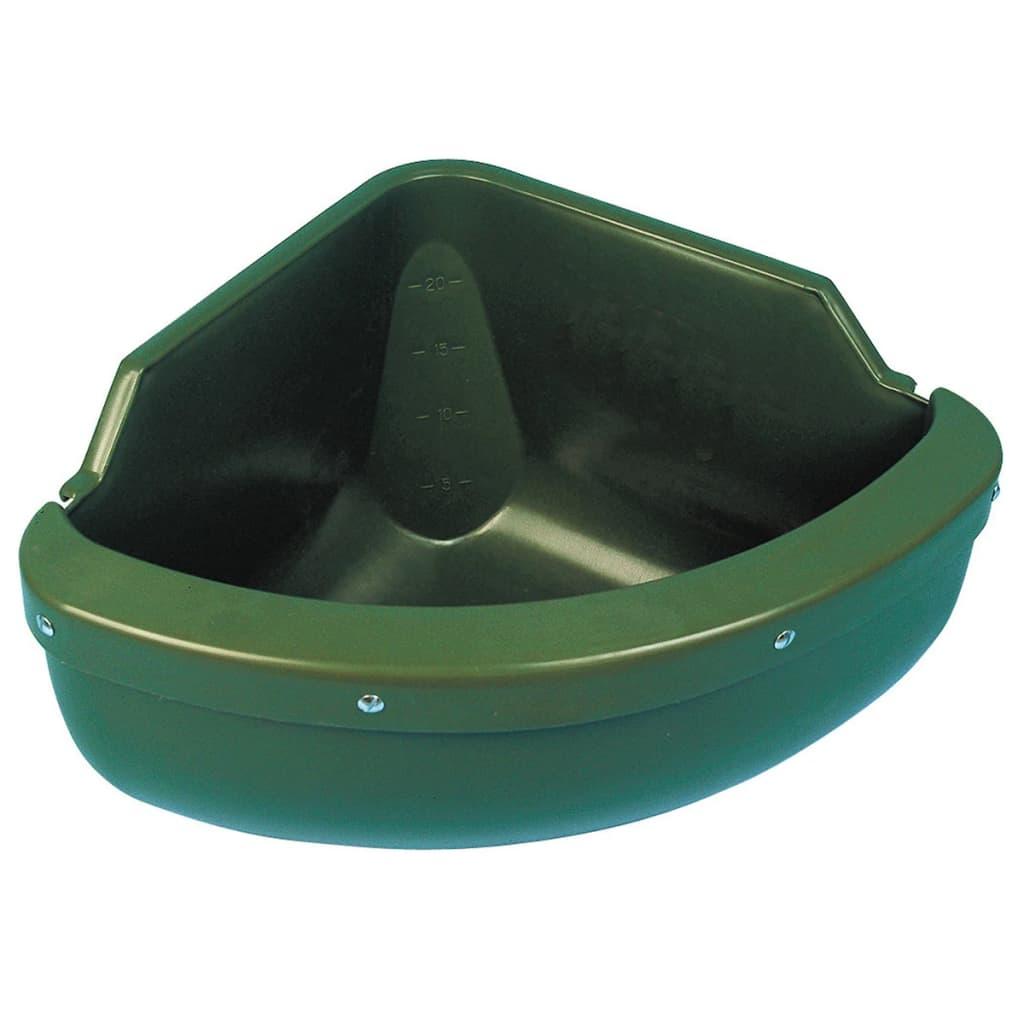 Kerbl Hjørnematskål 31 L plastgrønn 32592