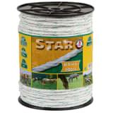 Kerbl Elektrinės tvoros virvė Star, 200m, baltos ir žalios sp., 6mm