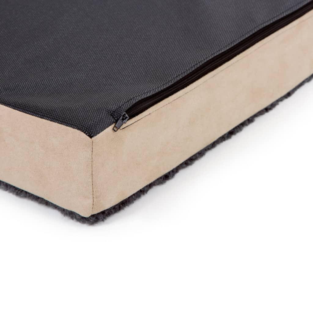 Kerbl Hondenmatras met traagschuim 80x50 cm beige en grijs 80326