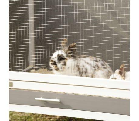 Kerbl Clapier ECO Samy Plastique 116x57x82 cm Gris et blanc[8/9]