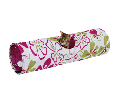 Kerbl Tunnel pour chats Flower 25 x 90 cm 82638[2/2]