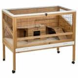 Kerbl Gaiola para animais pequenos Indoor Deluxe 115x60x92,5cm madeira