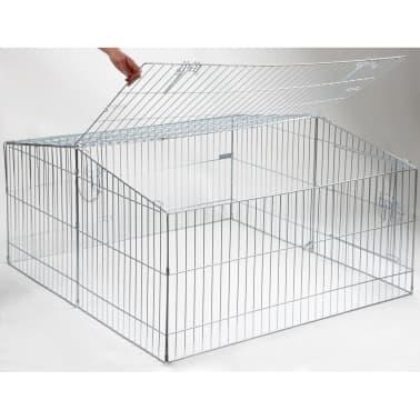 Kerbl Enclos pour animaux de compagnie Easy Métal Argenté 82845[2/8]