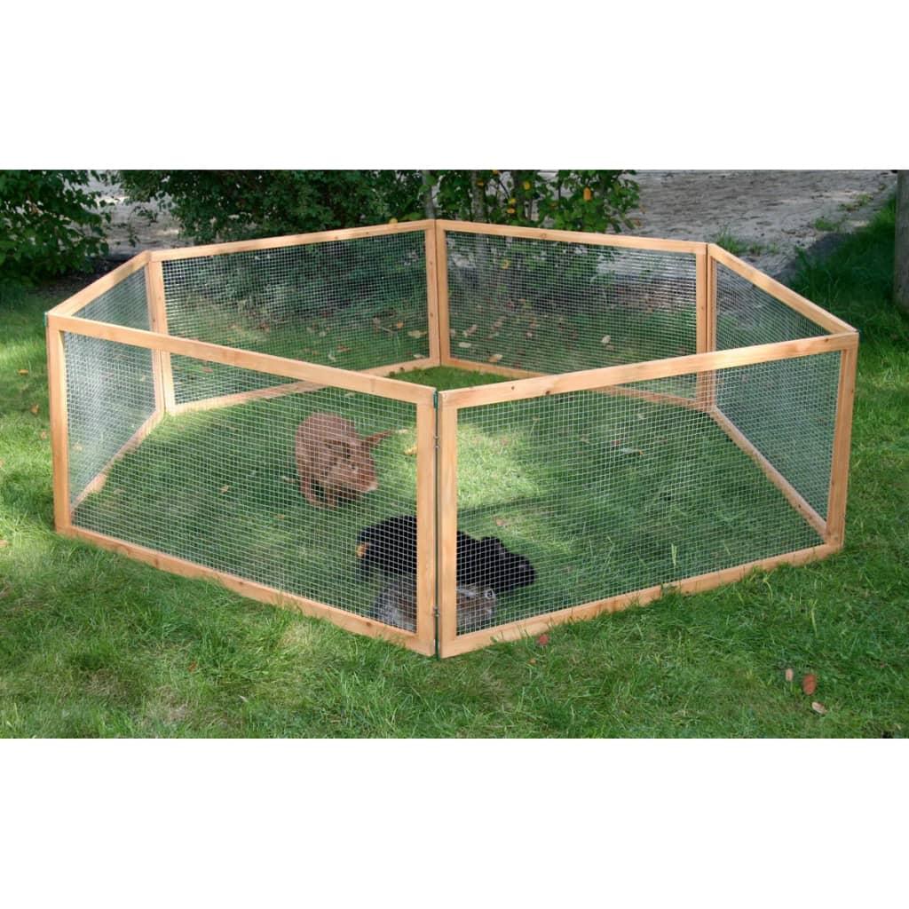 Afbeelding van Kerbl Buitenren voor huisdieren Vario hout bruin 84399