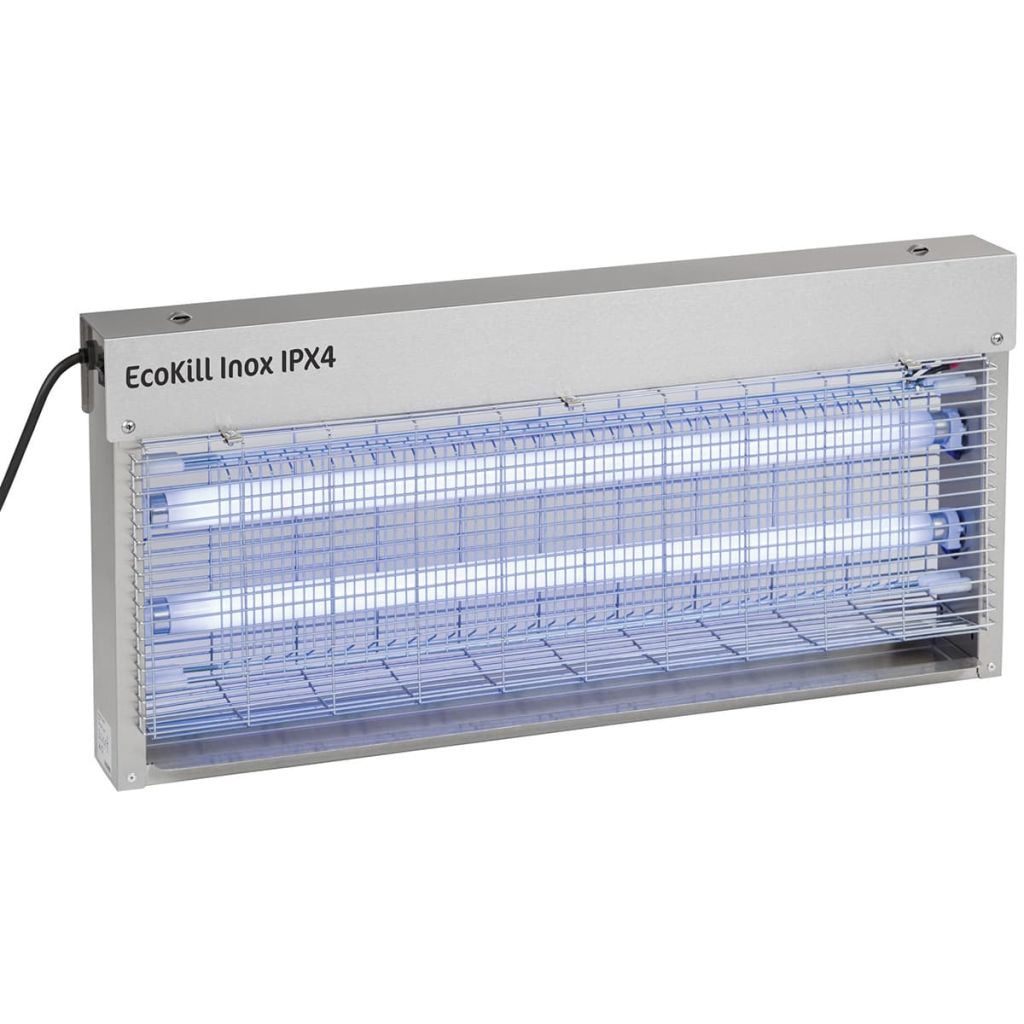 """Kerbl Appareil électrique anti-mouches moustique """"EcoKill Inox IPX4 2x20W 299936"""