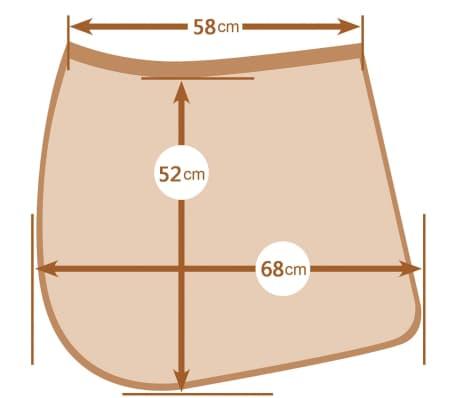 Kerbl Tapis de selle polyvalent Laguna Blanc complet 328644[3/3]