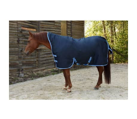 acheter kerbl couverture de cheval rugbe highneck bleu 155 cm 328667 pas cher. Black Bedroom Furniture Sets. Home Design Ideas