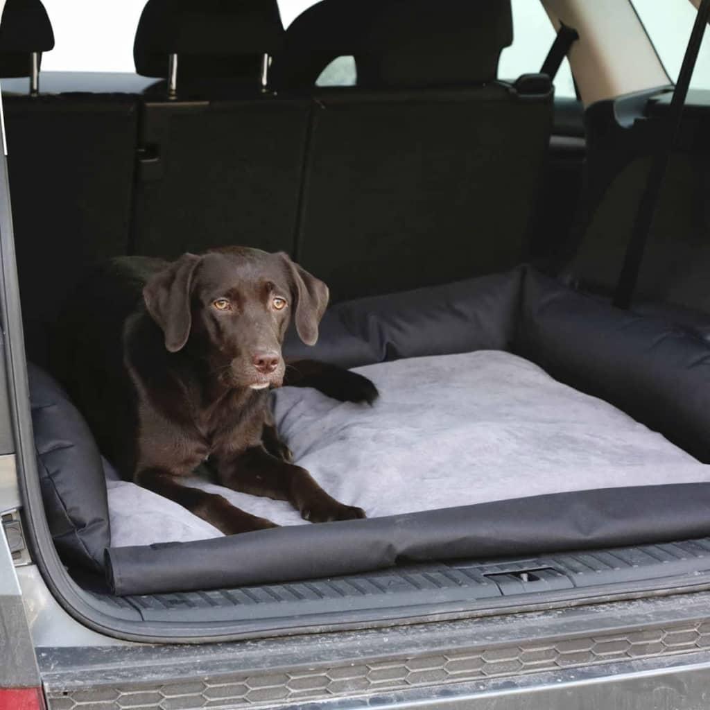 Kerbl Hondenmand voor in de auto 95x75x16 cm grijs en zwart 80584