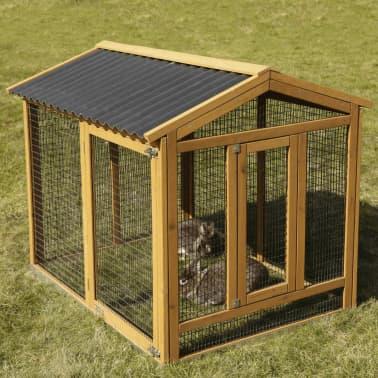 Kerbl Enclos pour lapins Pro 115x85x90 cm Bois 81720[1/10]