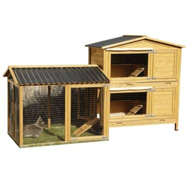 Kerbl Enclos pour lapins Pro 115x85x90 cm Bois 81720[2/10]
