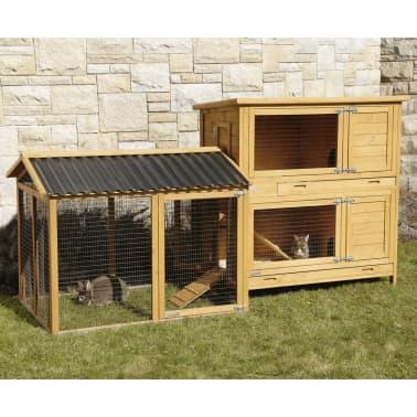 Kerbl Enclos pour lapins Pro 115x85x90 cm Bois 81720[7/10]