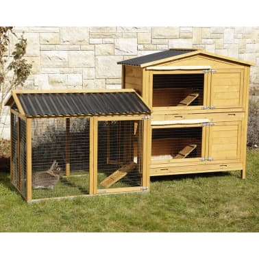 Kerbl Enclos pour lapins Pro 115x85x90 cm Bois 81720[9/10]